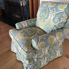 #BellTower delivered one of our favorite #FourSeasons chairs today! #Belltowerlakehouseliving #Lakehouseliving #GullLake #Indoorfurniture #InteriorDesign #Funfabrics #Richland