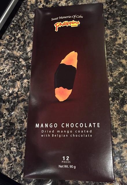 Mango chocolate from the Philippines! Dried mango coated with Belgian chocolate. 🍫#sweetmemoriesofCebu ❤️ #tnxhb