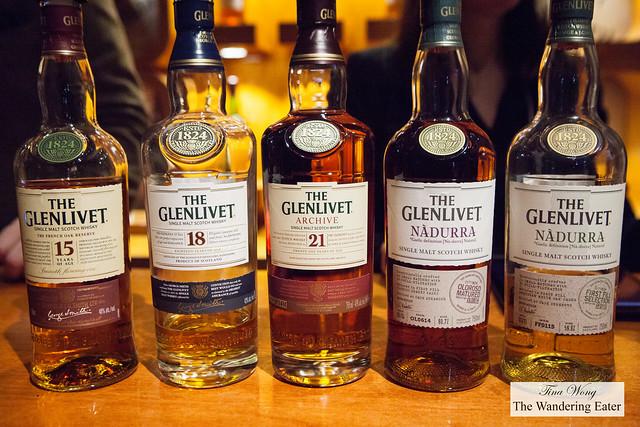 The Glenlivet line-up