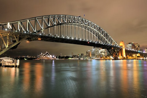 photosbymch landscape nightscape nightsky harbor reflection clouds sydneyharbourbridge sydneyoperahouse sydneyharbour milsonspoint night longexposure sydney newsouthwhales australia bridge canon 2015 steelarchbridge skyline 5dmkiii colors shadows lowlight 5000views