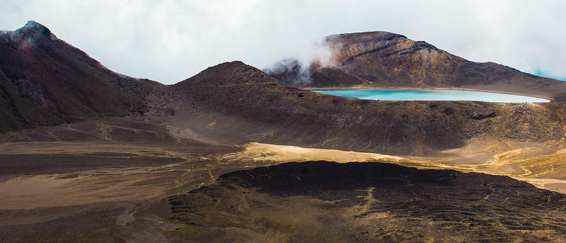 Volcanic landscape - 2, The blue lake