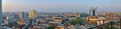 city skyline bandung kota cakrawala