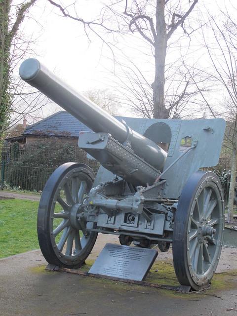 Japanese WWII Artillery Gun, Memorial Park Romsey SWC Walk 58 Mottisfont and Dunbridge to Romsey taken by Karen C.
