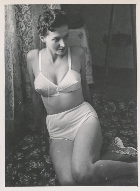 Pretty woman teases in her underwear 3