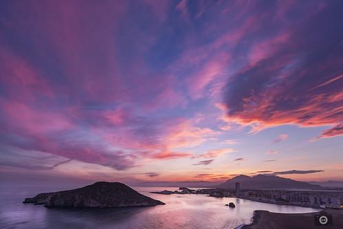 sunset marina landscape atardecer marine paisaje murcia reflejos mazarrón
