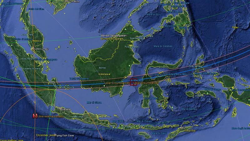 tracciato eclisse largo
