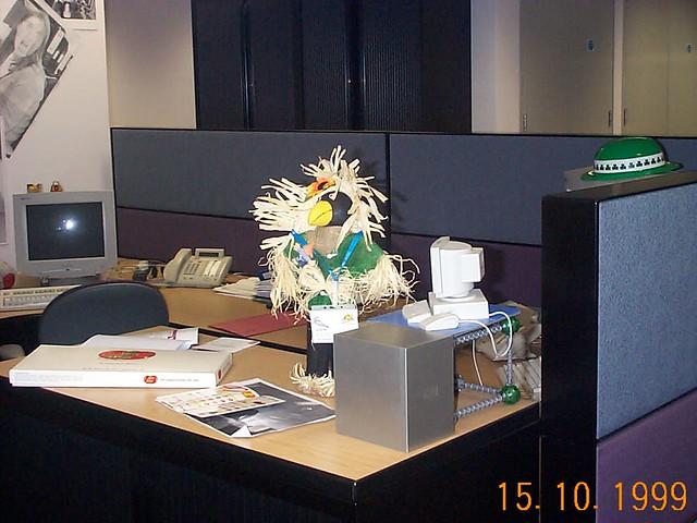 Larry hard  at work