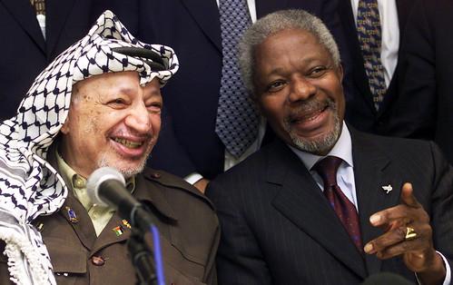 Yasser Arafat, Kofi Annan - World Economic Forum Annual Me ...