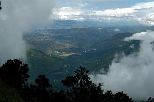 clouds ecuador view baños tungurahua