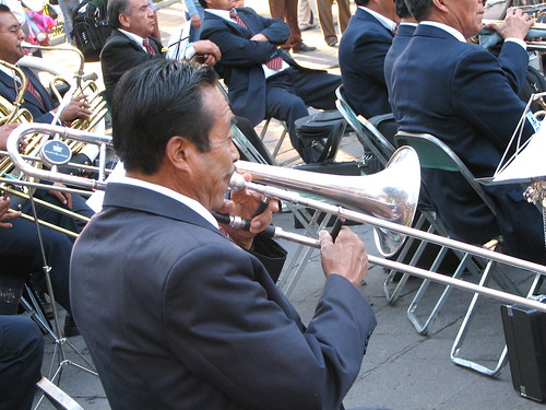 A band playing at the Zocalo