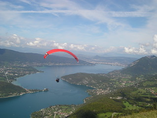 Taking off in paradise, Annecy August 06 | by headinthesomersetclouds