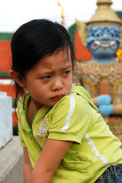 Unhappy Thai child