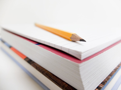 Pencil, books, and notepad | by CCAC North Library