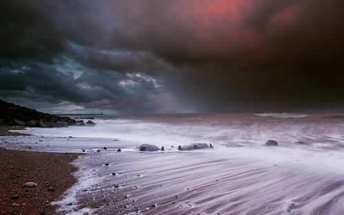 ocean sunset lighthouse seascape storm beach clouds landscape boat sand rocks waves shingle stormy gravel manfrotto dawdon seaham blastbeach nosespoint efs1022mm nd09 leefilters chemicalbeach canon600d steveniceton nd09hardgradfilter