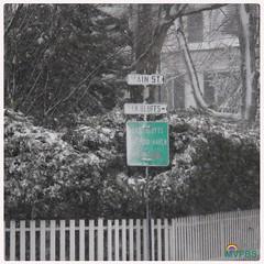 Blizzard!  #SnowStorm #Edgartown #StreetSign #WhichWayDoWeGoWhichWayDoWeGo #OnOurWay to #OakBluffs #PlayingInTheSnow #PicketFence #Perfection #WhiteOut #BlizzardWarning #ThisIsNotAWarning #ThisIslandIsClosed #DriveSafely #WinterWonderland #DownIsland #Mar