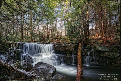 trees game nature water canon flow outdoors waterfall timelapse state pennsylvania run jeans pa waterfalls land environment february 41 2016 17mm carboncounty canon6d jeansrun tomwildoner