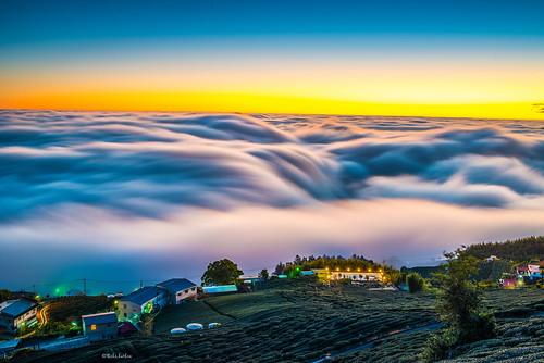 201601319545 taiwan 頂石槕 茶園 雲海 雲瀑 天空 山 雲彩 風景 頂石棹茶園