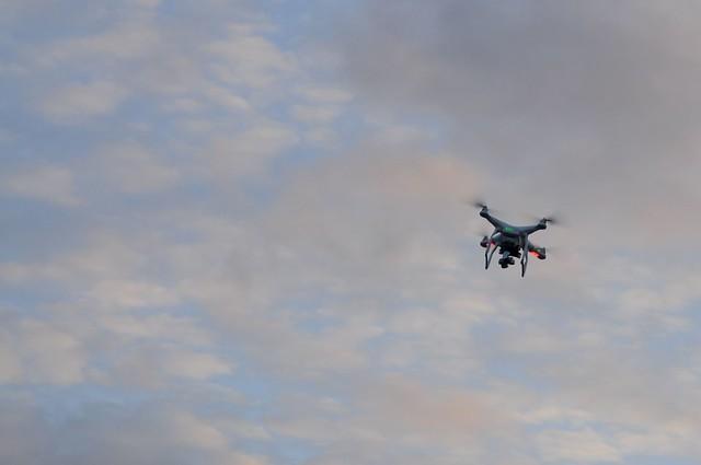 Drohne, Quadrocopter, auf dem Paradeplatz; Rendsburg (64)
