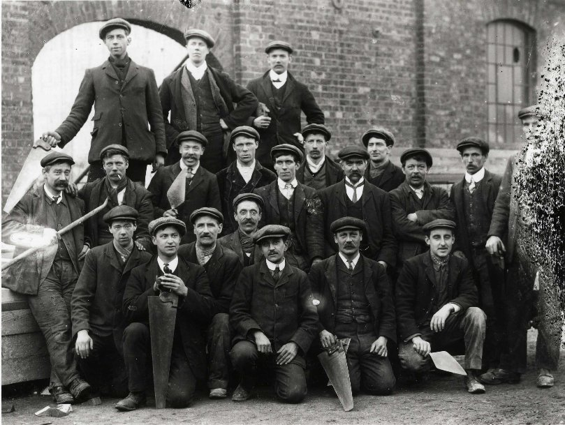 Workers at Beverley railway station circa 1900 (archive ref DDX1319-1-EYC13)