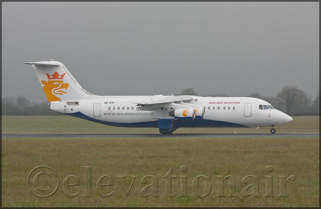 Se Rji Bae Avro Rj100 Malmo Aviation Arriving Into Dublin