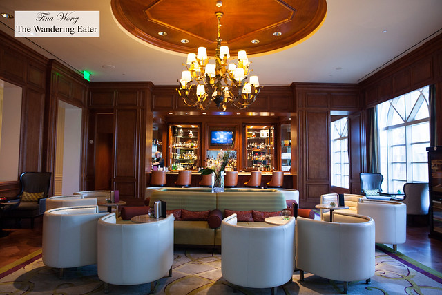 Looking in toward the handsome bar area of Silver Palm
