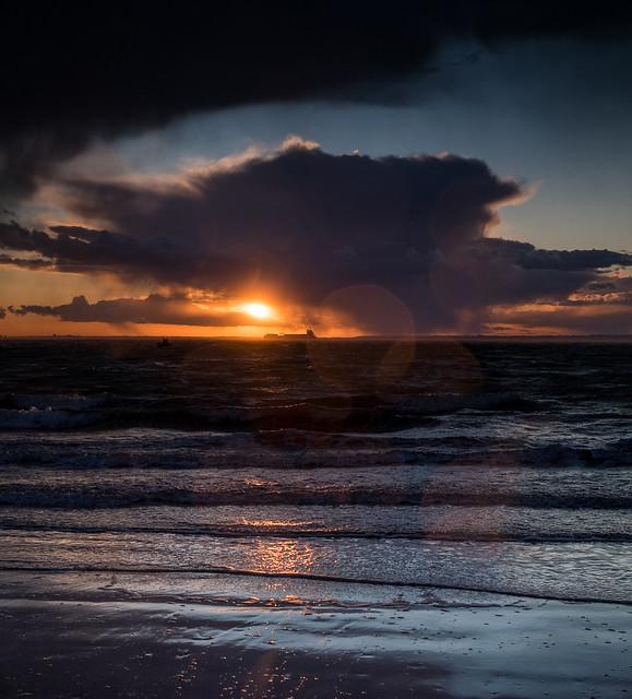 Stormy Totland Sunset - DSCF8274