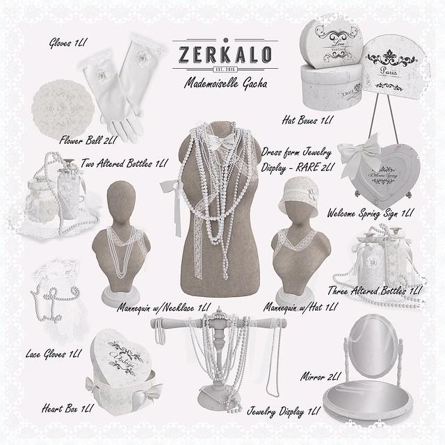 [ zerkalo ] Mademoiselle - Gacha Key - soon @The Arcade
