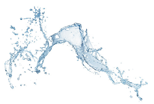 blue water splash isolated on white background | by aqua.mech