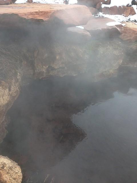 Homestead crater hot spring region