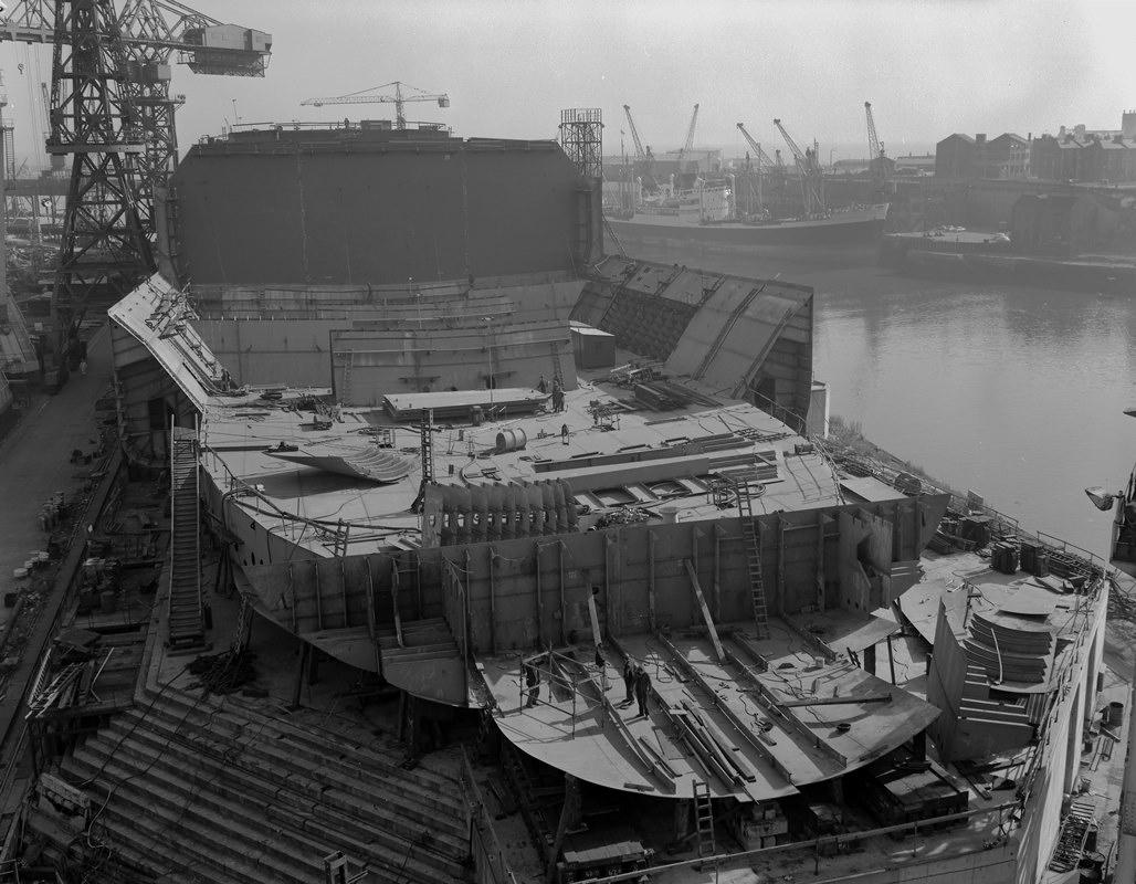 Progress shot of 'Naess Crusader' at North Sands, Sunderland