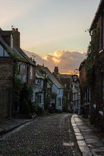 autumn urban sun heritage clouds nikon medieval historic rye cobblestone mermaid eastsussex mermaidstreet lr6 d7100 sigma1750f28exdcoshsm