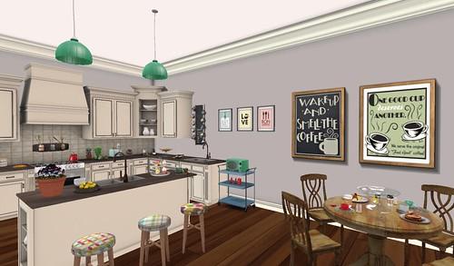 Galland Home Cloverleaf Kitchen Breakfast Nook | by Hidden Gems in Second Life (Interior Designer)