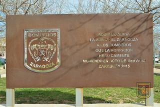 Homenaje a los Bomberos fallecidos.
