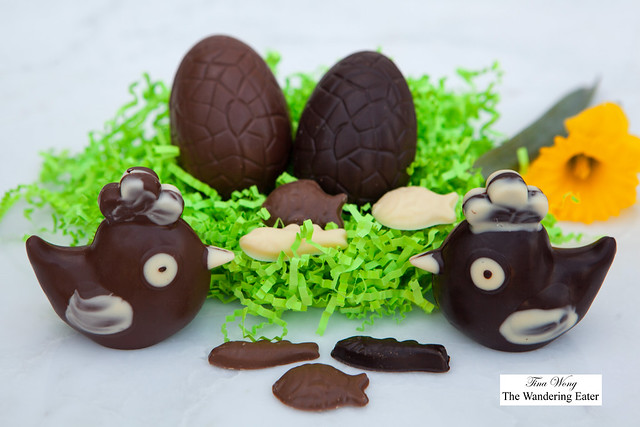 Assortment of chocolates for Easter