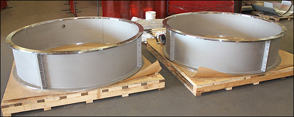 """85"""" Dia. Clamshell Spools Designed for an Exhaust Wall Protrusion Clamshell at a Gas Turbine Facility"""