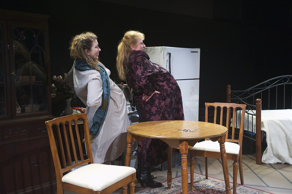 <p>Moriah Whiteman as Margherita and Hanna Bondarewska as Antonia in &quot;They Don't Pay? We Won't Pay!&quot; BY Dario Fo<br /> ...we have to go around for three days with make believe baby-bumps...</p>