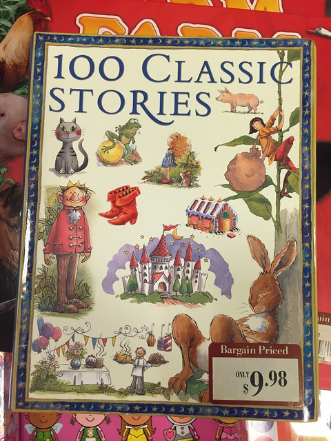 Giving time to read to your kids is one of the precious things you can give them. This book, 100 Classic Stories, for children is such a steal at just $9.98 at Barnes&Noble!But any book,as long as it's age-appropriate is a good book to read to your kids!