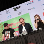 Fri, 18/03/2016 - 1:16pm - CHVRCHES Live at SXSW Day stage powered by VuHaus, 03.18.2016 Photographer: Nick D'Agostino