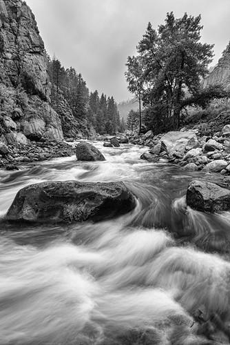 portrait bw white black nature water monochrome creek river landscape fishing colorado paradise slow rapids canyons stvrain bouldercounty jamesinsogna