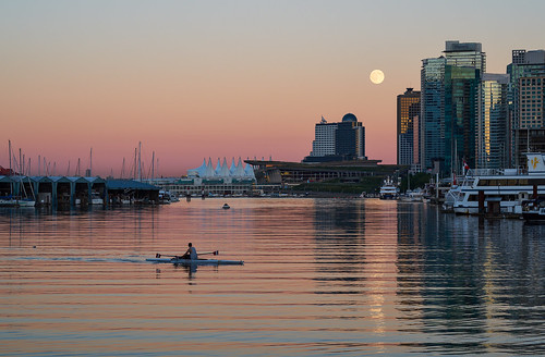 canada vancouver downtown bc none britishcolumbia columbia kayaking moonlight british stanleypark canadaplace coalharbour vancouverconventioncenter