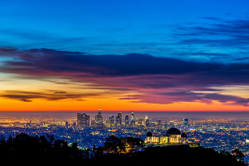 california city morning sky skyline clouds sunrise buildings landscape la losangeles haze downtown cityscape observatory bluehour griffithpark hollywoodhills skyfire laist photographersephemeris sunsetwx