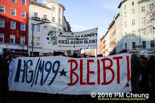 Demonstration: HG/M99 bleibt! Wir haben sehr großen Revolutionsbedarf - 09.01.2016 - Berlin - IMG_8705