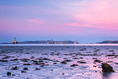 scotland twilight unitedkingdom dusk cromarty platforms rigs blackisle 2016 cromartyfirth balblair