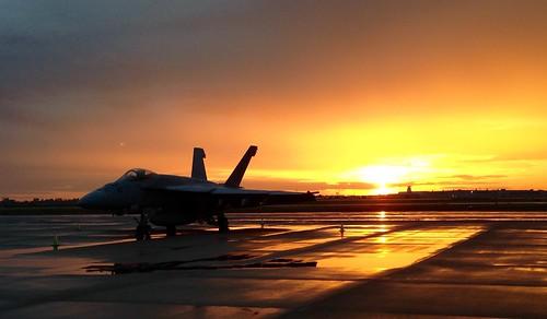 wet america sunrise airplane airport fighter littlerock aircraft military jet arkansas iphone fa18