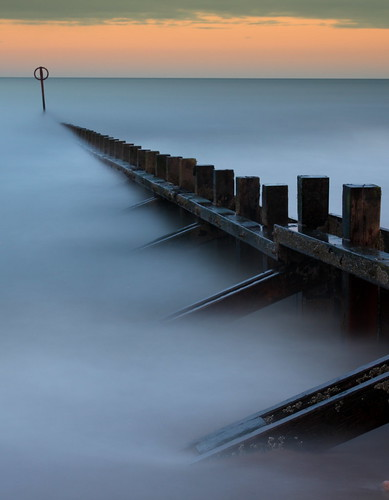 longexposure sunset sea mist beach sunrise canon scotland pov pointofview aberdeen le northsea bluehour northeastscotland aberdeenbeach canoneos500d