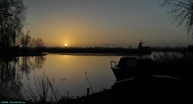Sunrise in Westzaan.