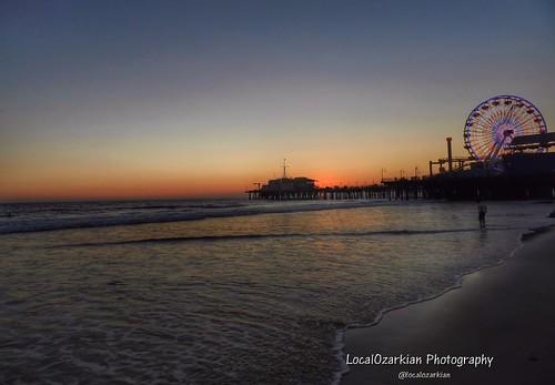 california sunset beach pier route66 santamonicapier motherroad santamonicacalifornia