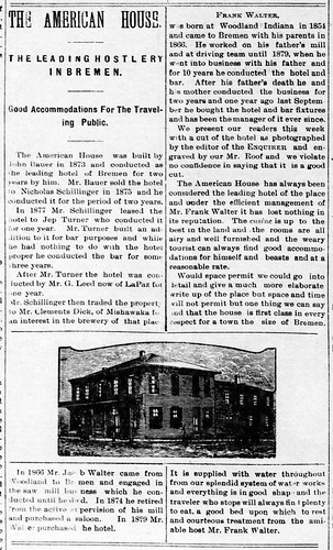 1892 - American House - Enquirer - 2 Dec 1892   by historic.bremen
