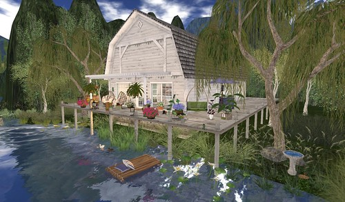 Brook Hill Living Waterfront Barn   by Hidden Gems in Second Life (Interior Designer)