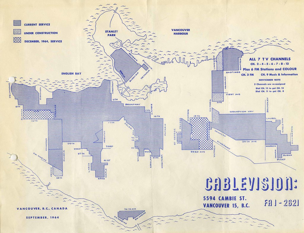 Cablevision Service Area Map on